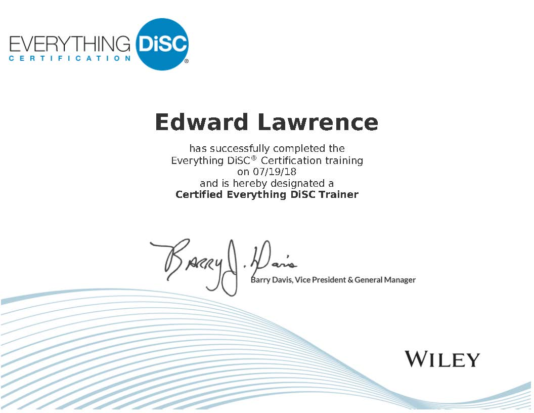 Everything DiSC Certified Trainer