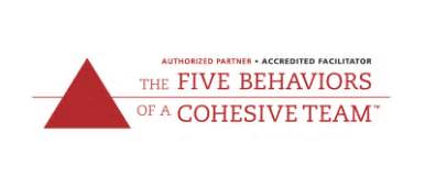 The Five Behaviors of a Cohesive Team Accredited Facilitator Logo