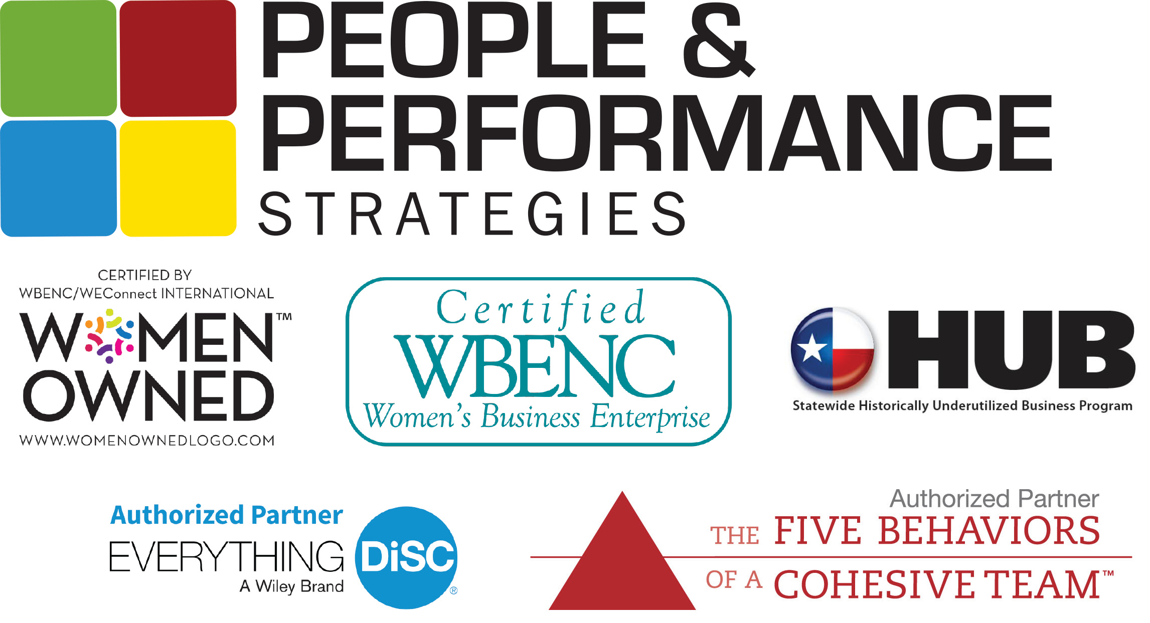 Credentials Woman Owned Business Everything DiSC 5 Behaviors of a Cohesive Team