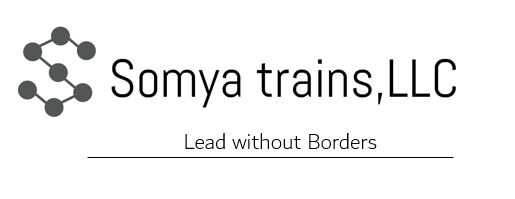 logo with text Somya trains LLC and sub heading is Lead without Borders
