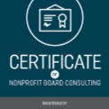 Boardsource Certificate of Nonprofit Board Consulting