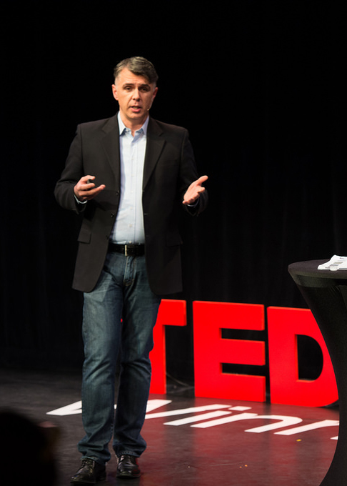 Patrick O'Reilly speaking at TEDx